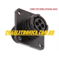 CONECTOR CIRCULAR POLARIZADO 4Vias - MACHO E FEMEA 4VIAS,plug housing female & male PLUG ,Socket 4 POSITION INVERT