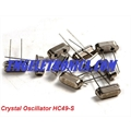 Cristal SMD 7,3728MHZ, HC-49SMD, Crystals 7.3728Mhz Quartz Crystal Oscillator Frequency 7,3728Mhz, Case HC-49/SM Metalic - SMD 2Pinos