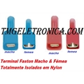 Terminal Faston Isolado Macho e Femea, Insulated Female and Male Faston
