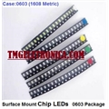 LED SMD 0603, Light emitting diodes 0603 (1608 metric) Standard LEDs - SMD - 1.6mm X 0.8mm - Diversas Cores