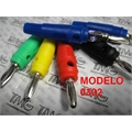 PINO BANANA 4Mm MACHO - Banana plug 4Mm Modelo TMG0302, COLOR, IMPORTADO