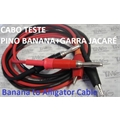 Cabo Teste Ultra Flexível 0.25mm 1KV, PINO BANANA 4mm + GARRA JACARÉ, Alligator Clip to 4mm Banana Plug Cable - Com 80cm / 800mm - Coloridos
