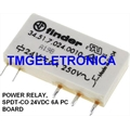 Relé 24VDC 34.51.7.024.0010, RELE 24VOLTS 345170240010 - 24VDC Relay, FINDER, Ultraslim PCB relay SPDT, 24 VDC, 6 A
