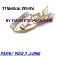 TERMINAL FEMEA PARA CONECTOR KK,Crimp Terminal Contact Female, TERMINAL KK - PASSO, Pitch 2,54Mm